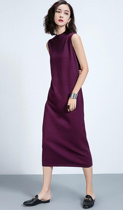 purple-royal-dress-sweater-black-shoe-loafers-slides-fall-winter-brun-lunch.jpg