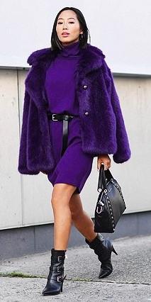 purple-royal-dress-sweater-belt-purple-royal-jacket-coat-fur-black-shoe-booties-black-bag-brun-aimeesong-fall-winter-dinner.jpg