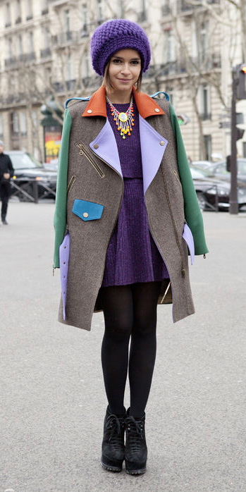 purple-royal-dress-mini-sweater-beanie-bib-necklace-black-tights-black-shoe-booties-fall-winter-hairr-dinner.jpg