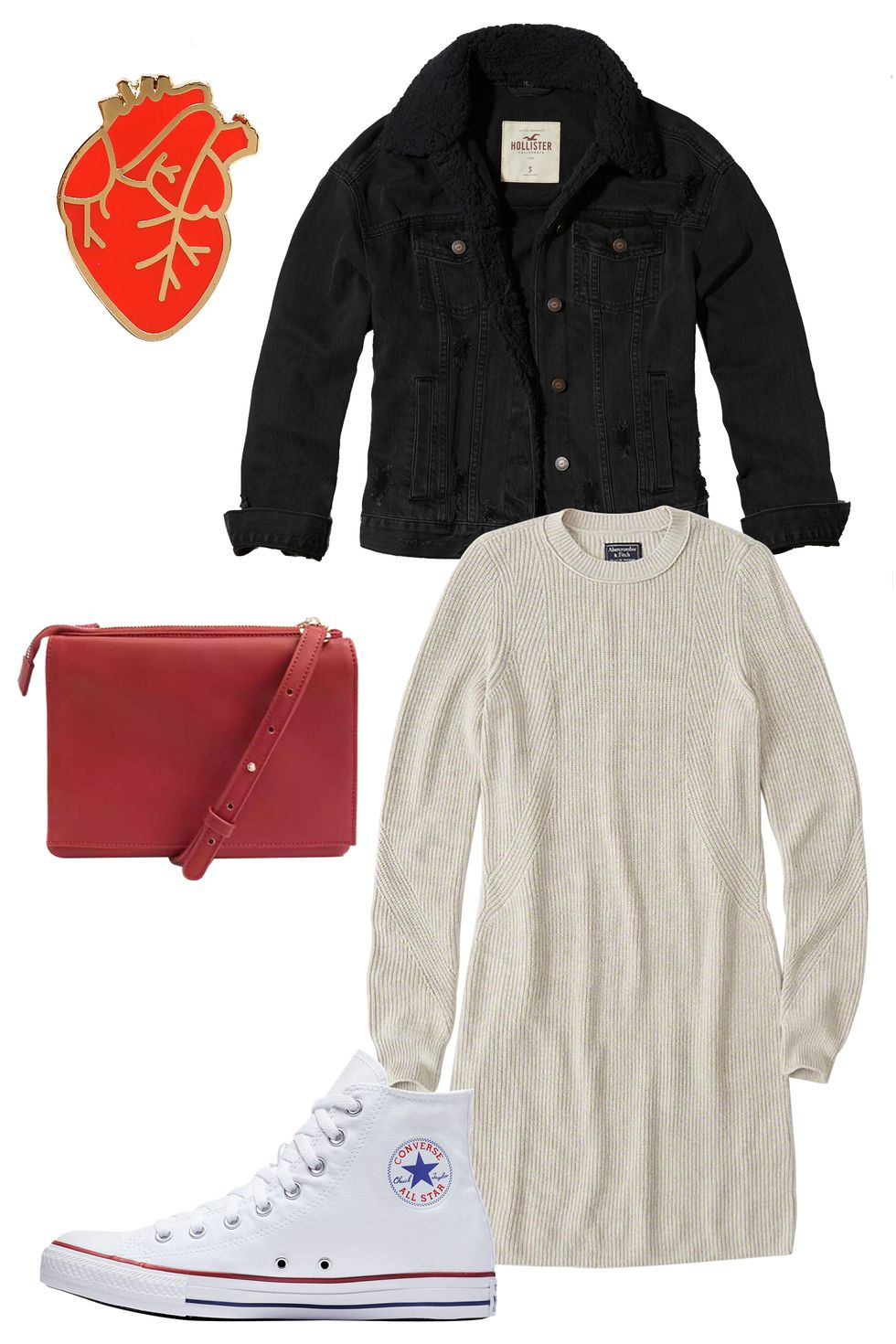white-dress-sweater-black-jacket-jean-red-bag-white-shoe-sneakers-converse-howtowear-valentinesday-outfit-fall-winter-lunch.jpg