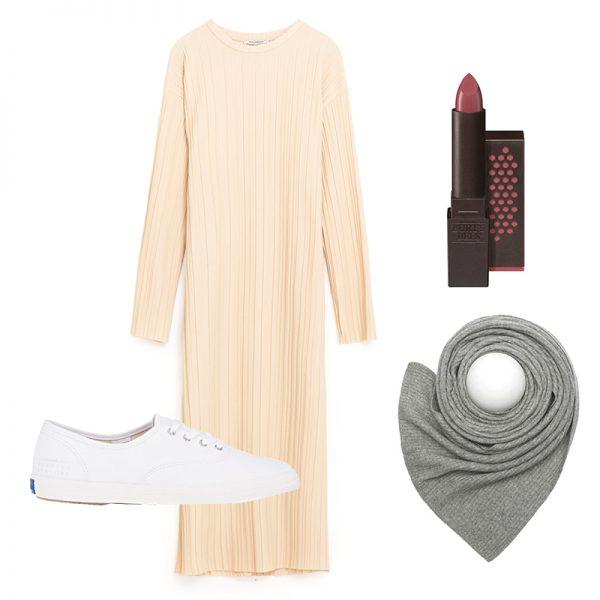 white-dress-sweater-white-shoe-sneakers-grayl-scarf-fall-winter-weekend.jpg