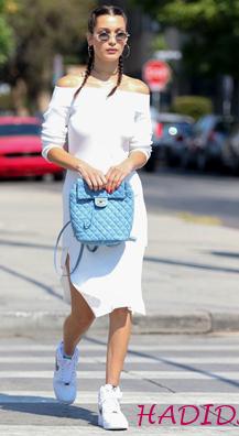white-dress-white-shoe-sneakers-blue-bag-pack-braids-howtowear-spring-summer-sweater-offshoulder-bellahadid-sun-hairr-lunch.jpg