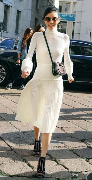 white-dress-sweater-bun-sun-burgundy-shoe-booties-burgundy-bag-turtleneck-midi-fall-winter-brun-lunch.jpg