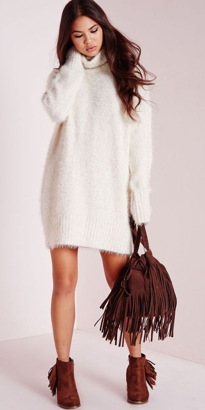 white-dress-a-cognac-shoe-booties-brown-bag-howtowear-fashion-style-outfit-fall-winter-turtleneck-sweater-fuzzy-fringe-brunette-lunch.jpg