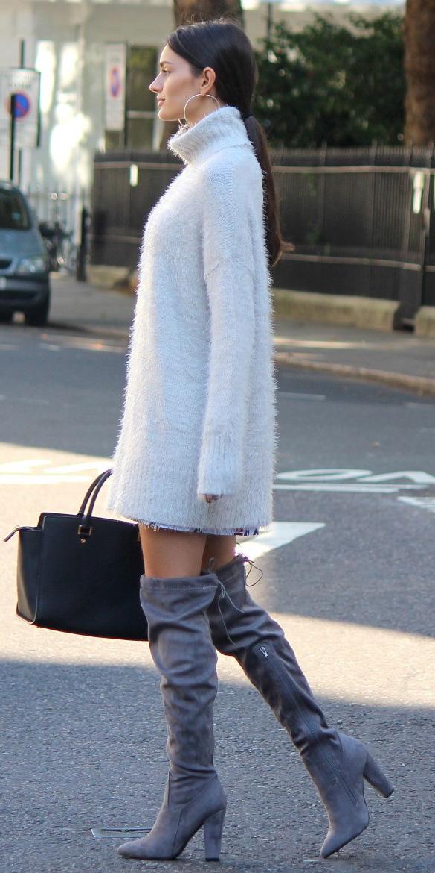 white-dress-sweater-brun-pony-hoops-gray-shoe-boots-otk-fall-winter-lunch.jpg