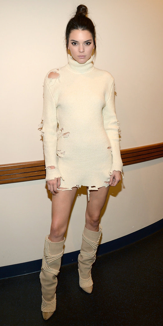 white-dress-a-white-shoe-boots-howtowear-fashion-style-outfit-fall-winter-sweater-turtleneck-distressed-kendalljenner-bun-brunette-dinner.jpg