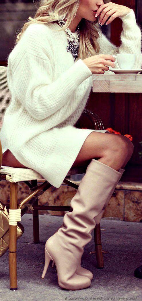 white-dress-sweater-tan-shoe-boots-bib-necklace-fall-winter-blonde-lunch.jpg