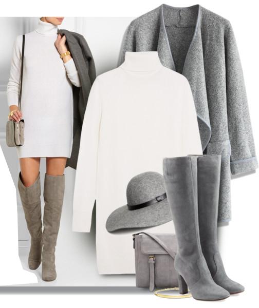 white-dress-sweater-grayl-jacket-coat-gray-shoe-boots-gray-bag-hat-howtowear-fall-winter-lunch.jpg