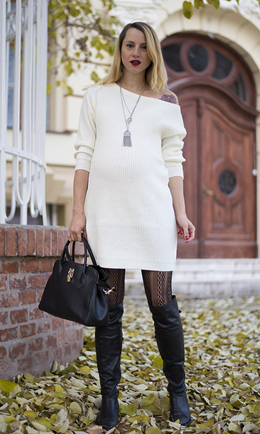 white-dress-black-shoe-boots-black-tights-black-bag-howtowear-fashion-style-outfit-fall-winter-sweater-necklace-pend-blonde-dinner.jpg