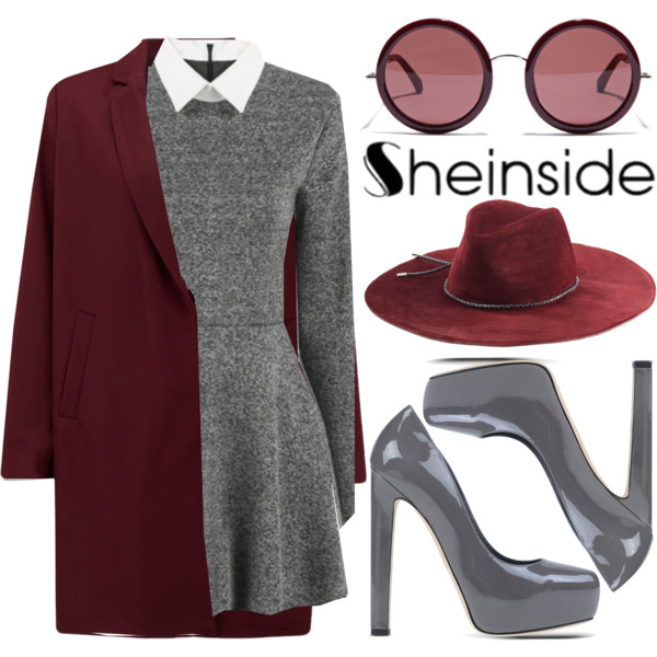 grayl-dress-white-top-r-burgundy-jacket-coat-gray-shoe-pumps-howtowear-fashion-style-outfit-fall-winter-collared-shirt-layer-sweater-hat-sun-lunch.jpg