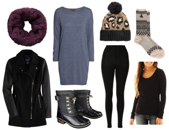 grayl-dress-black-jacket-coat-burgundy-scarf-black-shoe-booties-black-tights-howtowear-fashion-style-outfit-fall-winter-layers-socks-basic-snow-sweater-beanie-weekend.jpg