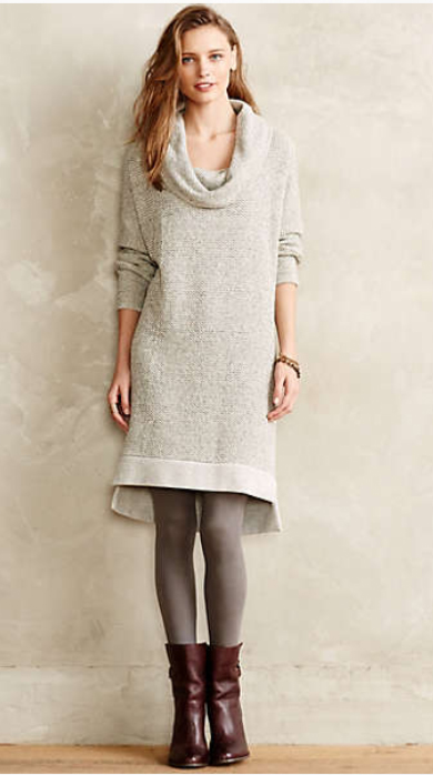 grayl-dress-brown-shoe-booties-gray-tights-sweater-wear-style-fashion-fall-winter-cowlneck-anthropologie-outfit-hairr-weekend.jpg
