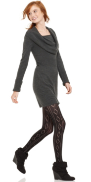 grayd-dress-black-tights-black-shoe-booties-hairr-pony-howtowear-fashion-style-outfit-fall-winter-sweater-cowlneck-lunch.jpg