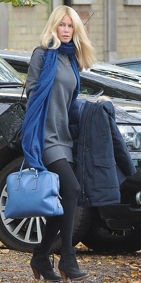 grayd-dress-sweater-blue-navy-scarf-blue-bag-black-tights-black-shoe-booties-claudiaschiffer-fall-winter-blonde-lunch.jpg