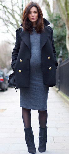 grayd-dress-sweater-black-jacket-coat-black-tights-black-shoe-booties-black-bag-brun-howtowear-fashion-style-outfit-fall-winter-maternity-lunch.jpg