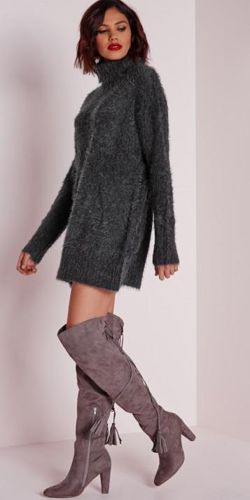 grayd-dress-sweater-turtleneck-brun-bob-gray-shoe-boots-otk-tonal-fall-winter-dinner.jpeg