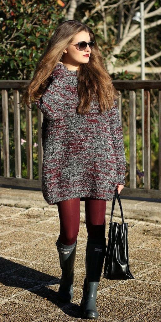 grayd-dress-sweater-burgundy-tights-black-shoe-boots-fall-winter-hairr-lunch.jpg