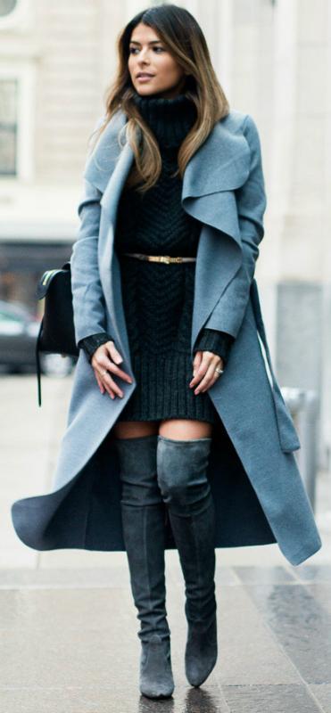 grayd-dress-sweater-belt-turtleneck-grayl-jacket-coat-gray-shoe-boots-otk-fall-winter-hairr-lunch.jpg