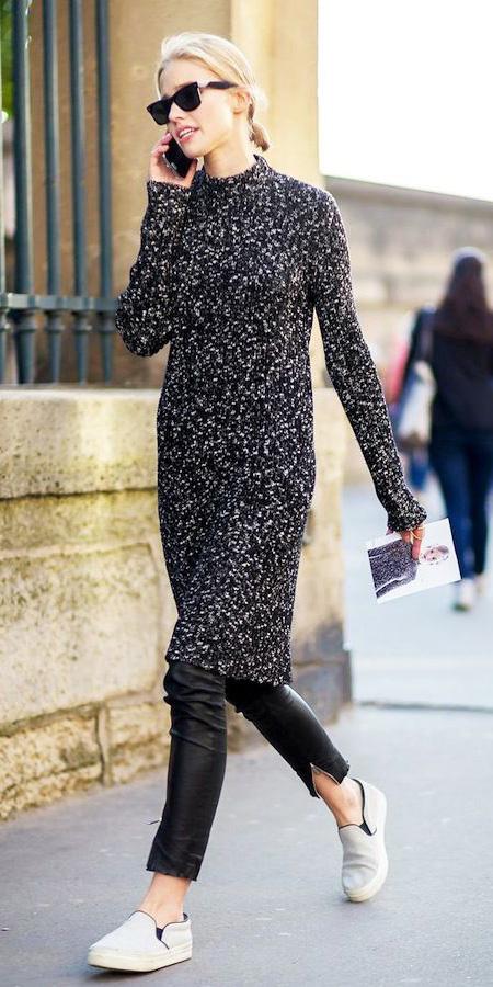black-dress-sweater-black-skinny-jeans-white-shoe-sneakers-sun-pony-fall-winter-blonde-weekend.jpg