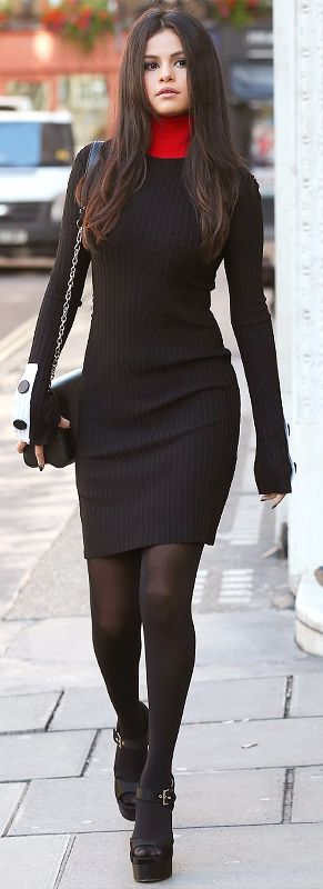black-dress-black-shoe-sandalh-black-bag-black-tights-howtowear-fashion-style-outfit-fall-winter-sweater-selenagomez-basic-celebrity-street-brunette-classic-dinner.jpg