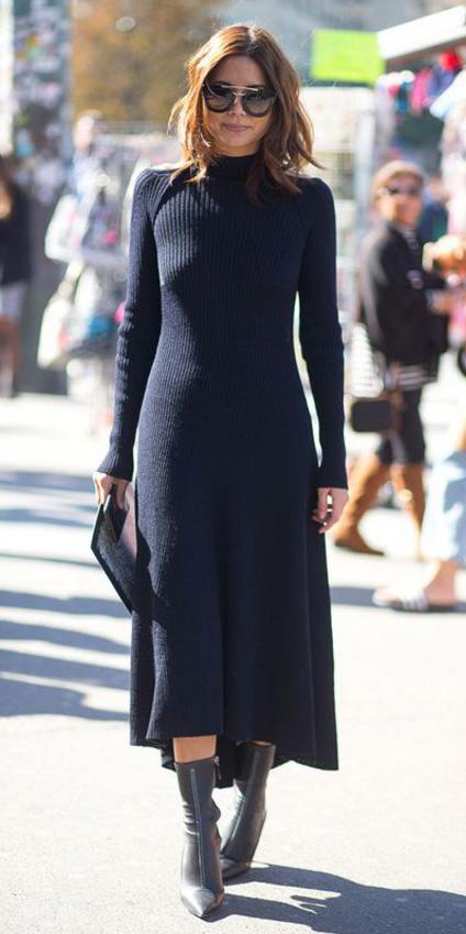 black-dress-sweater-turtleneck-sun-black-shoe-booties-fall-winter-mono-lob-midi-hairr-lunch.jpg