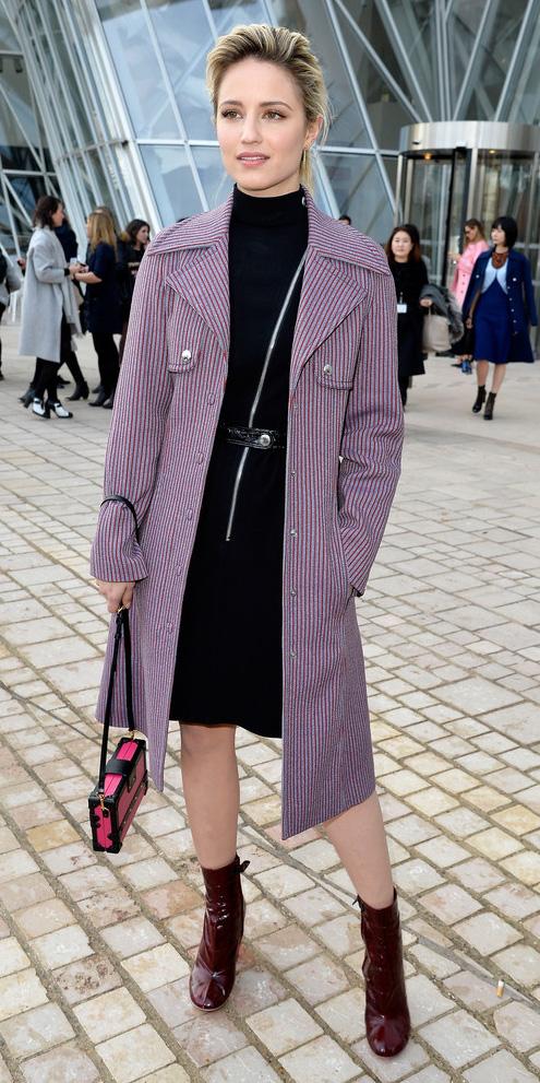 black-dress-purple-pastel-jacket-coat-pink-magenta-bag-burgundy-shoe-booties-belt-sweater-wear-style-fashion-fall-winter-celebrity-bun-blonde-dinner.jpg