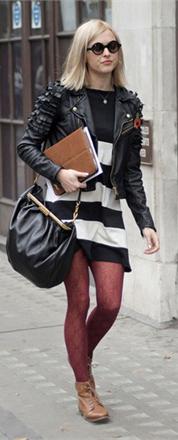 black-dress-print-stripe-black-jacket-moto-burgundy-tights-tan-shoe-booties-black-bag-sun-sweater-wear-style-fashion-fall-winter-fearnecotton-blonde-lunch.jpg