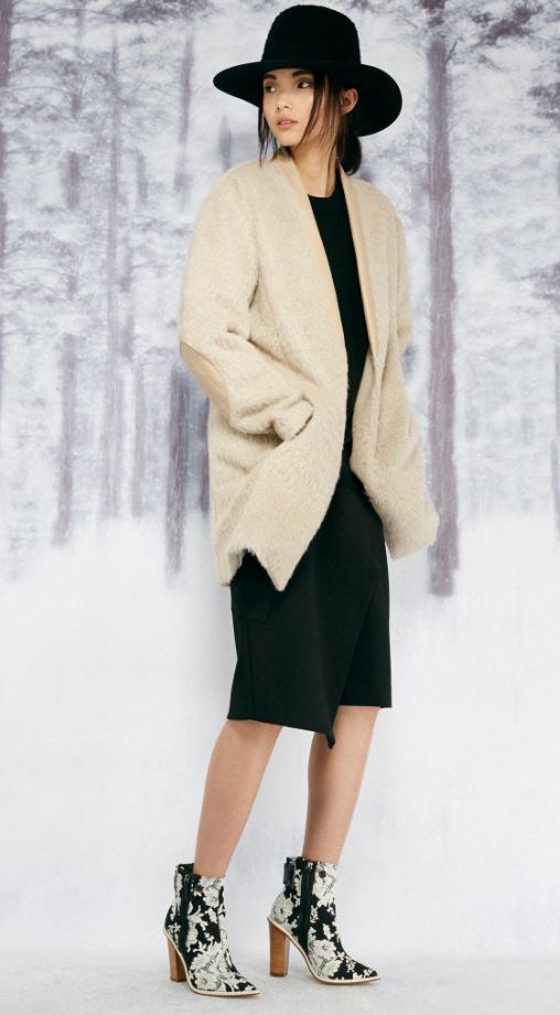 black-dress-white-jacket-coat-hat-white-shoe-booties-sweater-wear-style-fashion-fall-winter-hat-brunette-lunch.jpg