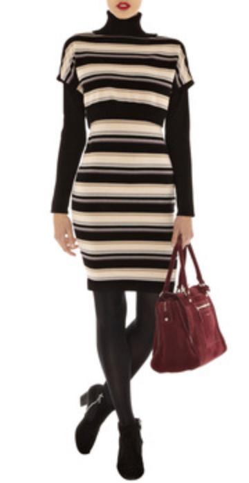 black-dress-zprint-stripe-black-sweater-turtleneck-layer-black-shoe-booties-black-tights-red-bag-hand-sweater-wear-style-fashion-fall-winter-work.jpg