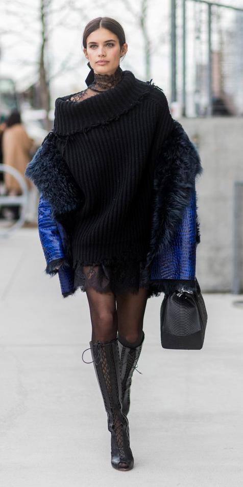 black-dress-sweater-black-tights-brun-cobalt-blue-med-jacket-coat-black-bag-black-shoe-boots-fall-winter-dinner.jpg