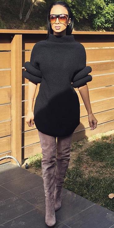 black-dress-sweater-tan-shoe-boots-otk-sun-fall-winter-brun-lunch.jpeg