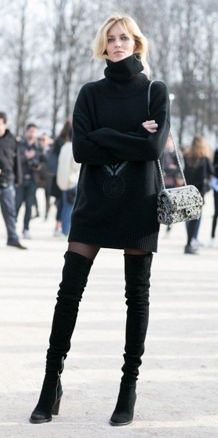 black-dress-sweater-black-shoe-boots-otk-turtleneck-black-tights-fall-winter-blonde-lunch.jpg