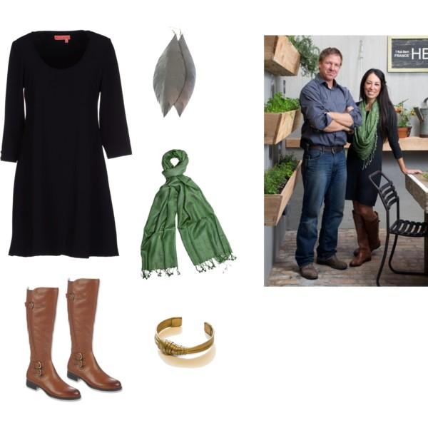 black-dress-cognac-shoe-boots-green-olive-scarf-earrings-bracelet-sweater-howtowear-fashion-style-outfit-brun-fall-winter-weekend.jpg