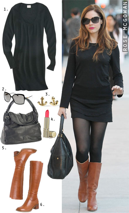 black-dress-cognac-shoe-boots-black-bag-hobo-black-tights-howtowear-fashion-style-outfit-fall-winter-basic-celebrity-studs-street-sweater-hairr-lunch.jpg