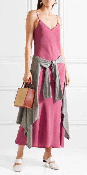 pink-magenta-dress-slip-grayl-cardiganl-white-shoe-pumps-cognac-bag-hairr-spring-summer-lunch.jpg
