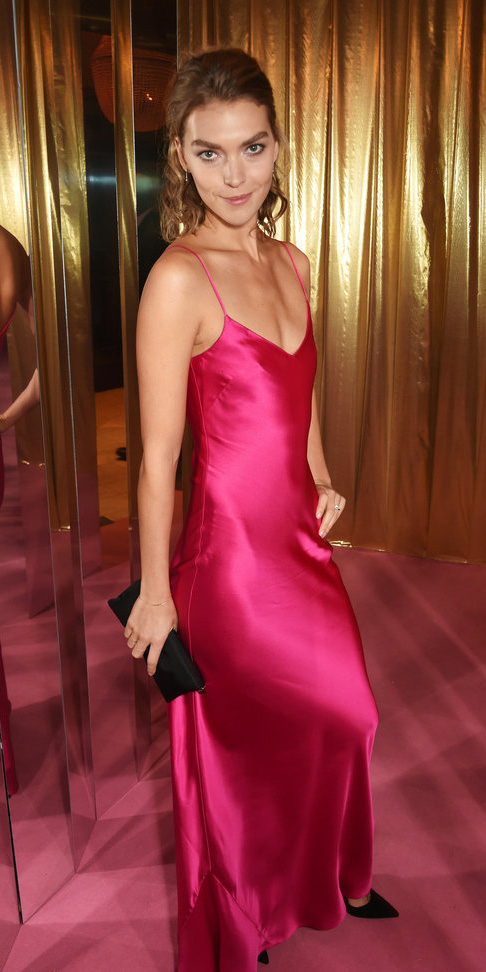 pink-magenta-dress-slip-maxi-silk-black-shoe-pumps-howtowear-spring-summer-hairr-dinner.jpeg