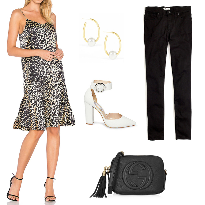 tan-dress-slip-leopard-print-black-skinny-jeans-black-bag-white-shoe-pumps-earrings-howtowear-fall-winter-dinner.jpg