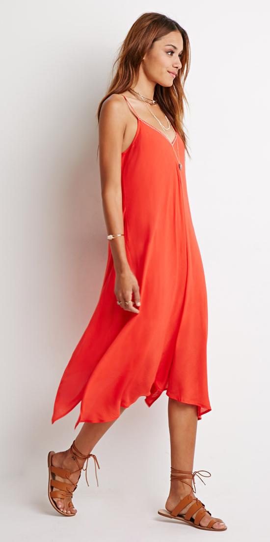 orange-dress-slip-necklace-hairr-cognac-shoe-sandals-spring-summer-weekend.jpeg