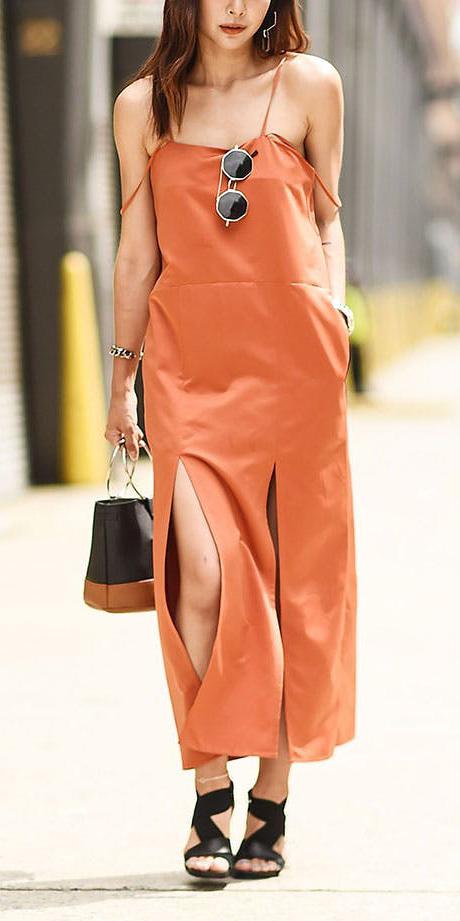orange-dress-slip-black-shoe-sandalh-sun-howtowear-spring-summer-brun-lunch.jpg
