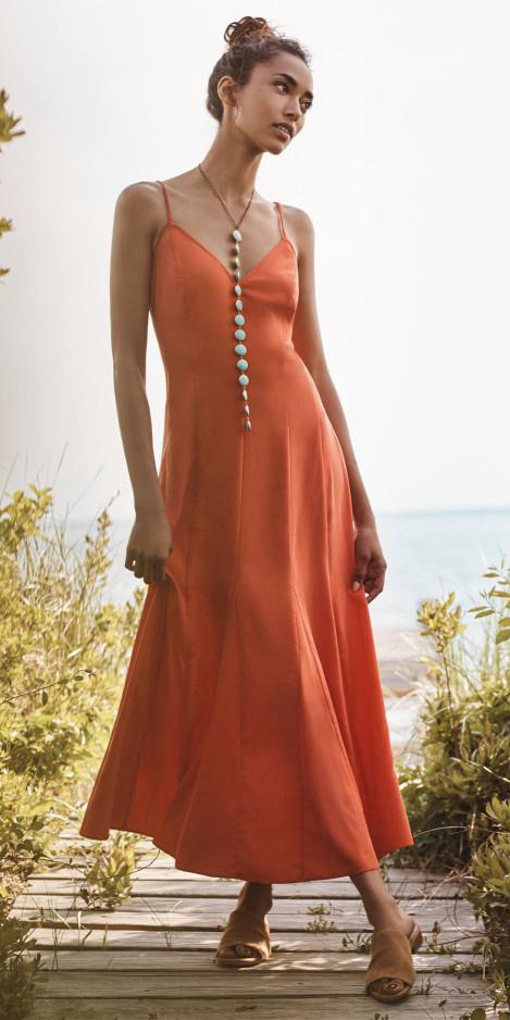orange-dress-slip-necklace-bun-howtowear-spring-summer-brun-lunch.jpg
