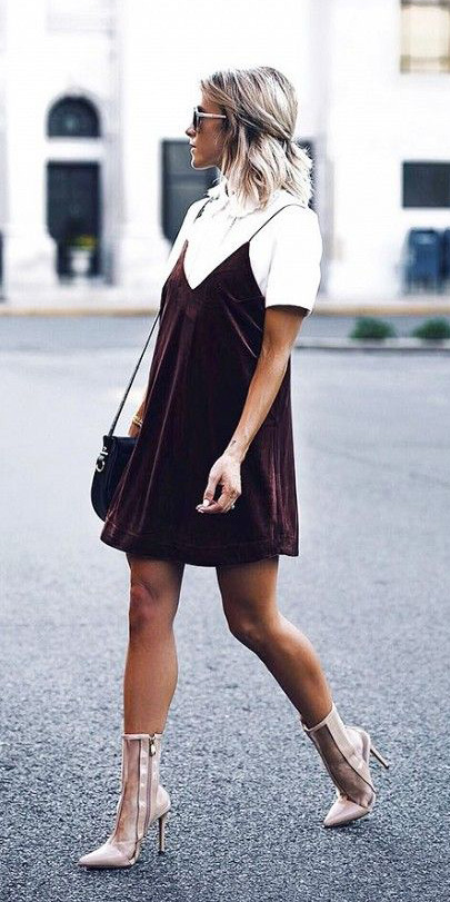 brown-dress-slip-velvet-white-tee-tan-shoe-booties-sun-howtowear-spring-summer-blonde-lunch.jpg