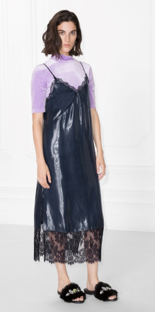 blue-navy-dress-slip-lace-purple-light-top-velvet-black-shoe-sandals-slides-howtowear-spring-summer-brun-lunch.jpg