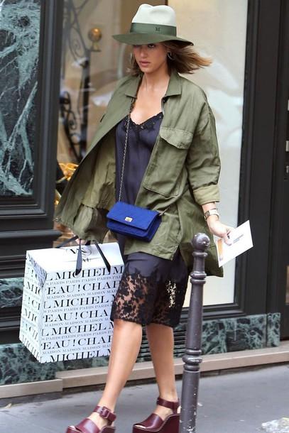 blue-navy-dress-slip-blue-bag-green-olive-jacket-utility-hairr-hat-jessicaalba-burgundy-shoe-sandalw-fall-winter-weekend.jpg