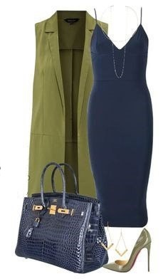 blue-navy-dress-green-olive-vest-tailor-slip-necklace-blue-bag-green-shoe-pumps-earrings-howtowear-fashion-style-outfit-spring-summer-dinner.jpg