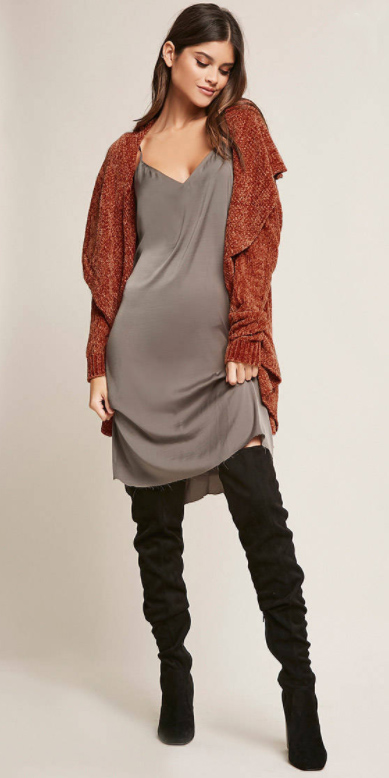 grayd-dress-slip-black-shoe-boots-otk-orange-cardiganl-fall-winter-hairr-lunch.jpg