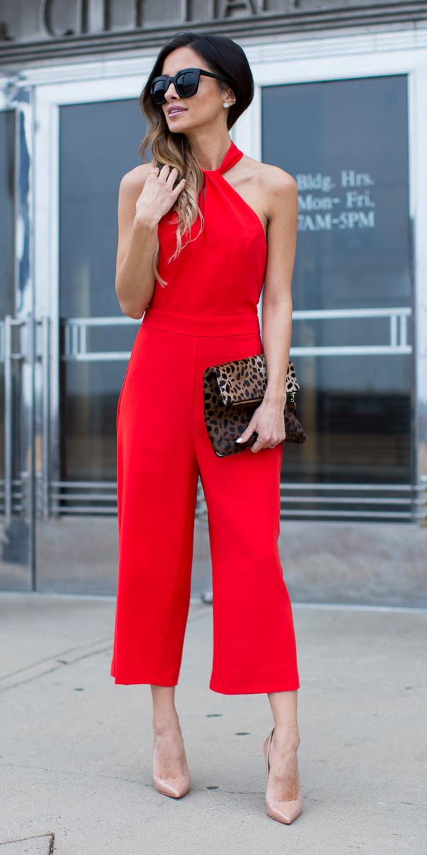 red-jumpsuit-tan-shoe-pumps-brown-bag-clutch-leopard-print-sun-studs-hairr-spring-summer-dinner.jpg