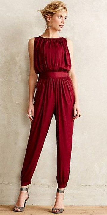 what-to-wear-for-a-winter-wedding-guest-outfit-red-jumpsuit-blonde-bun-dinner.jpg
