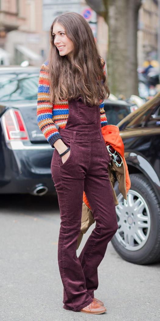 burgundy-jumpsuit-overalls-cognac-shoe-booties-orange-sweater-stripe-brun-fall-winter-weekend.jpg