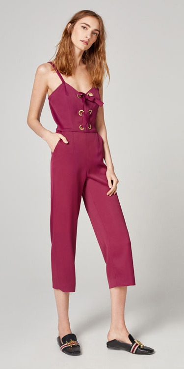 pink-magenta-jumpsuit-black-shoe-flats-slides-howtowear-spring-summer-hairr-lunch.jpg