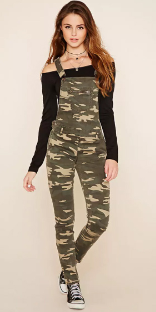 green-olive-jumpsuit-camo-print-black-sweater-hairr-necklace-black-shoe-sneakers-fall-winter-weekend.jpg